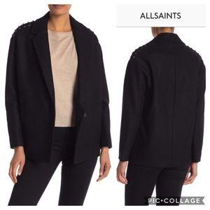 NEW All Saints Ada Wool Coat Size S
